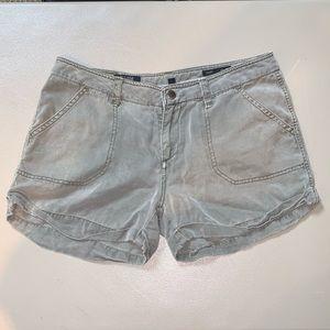 William Rast Flat Front Cuffed Lyocell Shorts